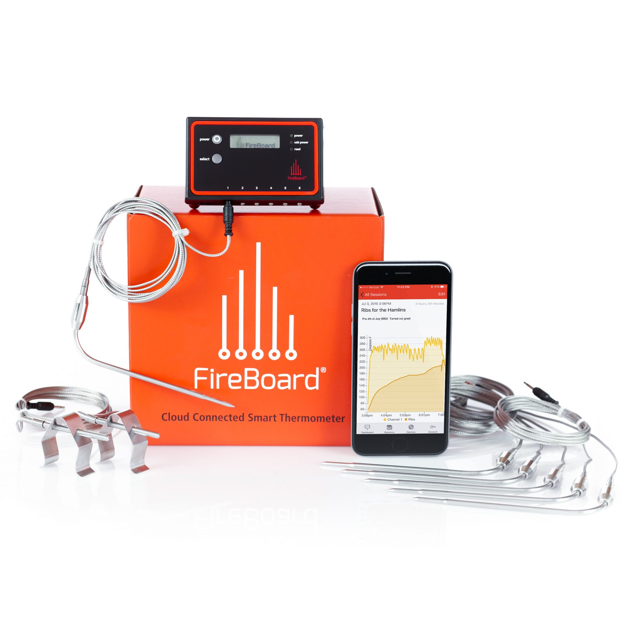 Fireboard Thermometer Extreme Bbq Edition Labs Diagram In Addition Waterproof Remote Control Also Wireless Prev